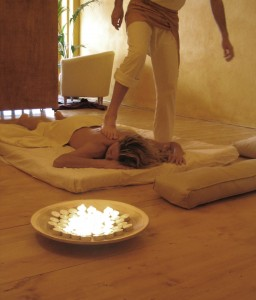 Ayurveda Kerala massage performed with the feet